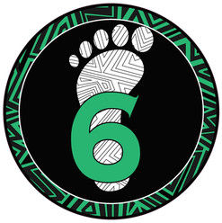 6 Ft Circle Decal - Green Pattern