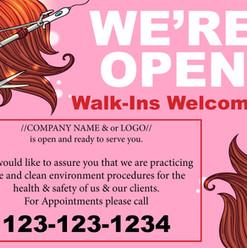 Hair Stylist We're Open