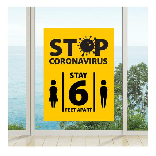 Stop Coronavirus Window Cling
