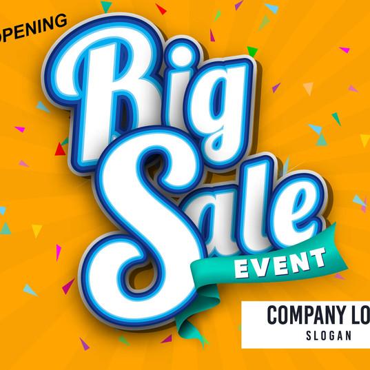 Re-Open Big Sale Event