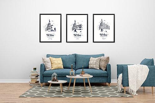 Bauhaus Living Room | 3 fine arts prints