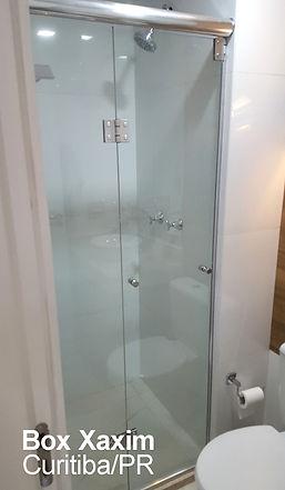 box para banheiro articulado sanfonado vidro incolor curitiba