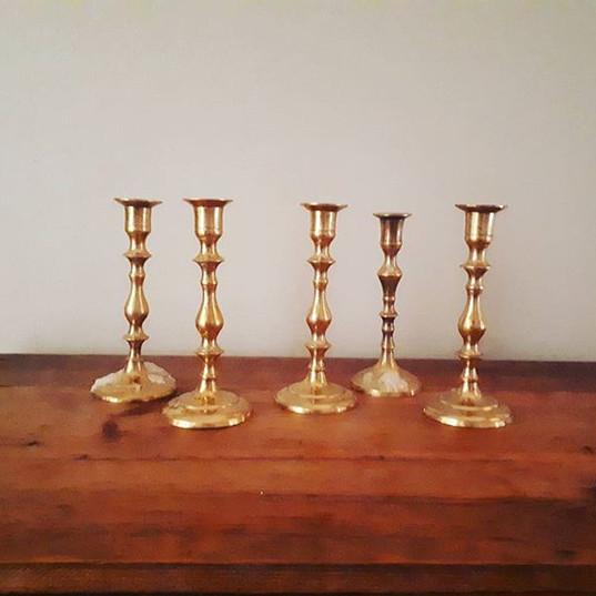 Pretty pretty gold candlesticks! New to
