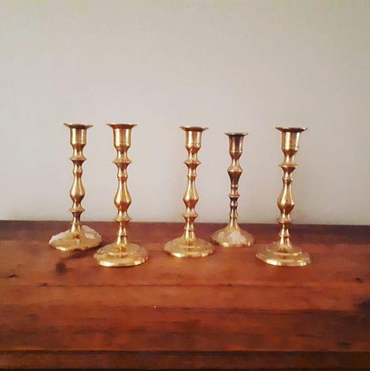 Gold Candlestick R25cm (R40)