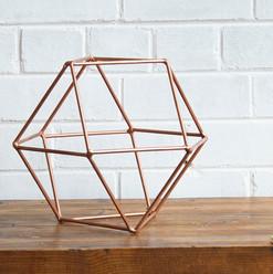 Rose Gold Geometric 30cm (R40)