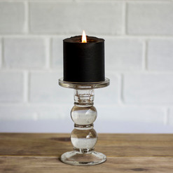 Clear Glass Candle Stick, set of 4 (R60)