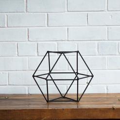 Matte Black Geometric 30cm (R40)