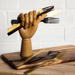 Gold / Matte Black Cutlery (R30 per set)