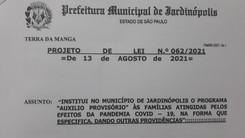 Auxílio Provisório será votado hoje (23) na Câmara dos Vereadores