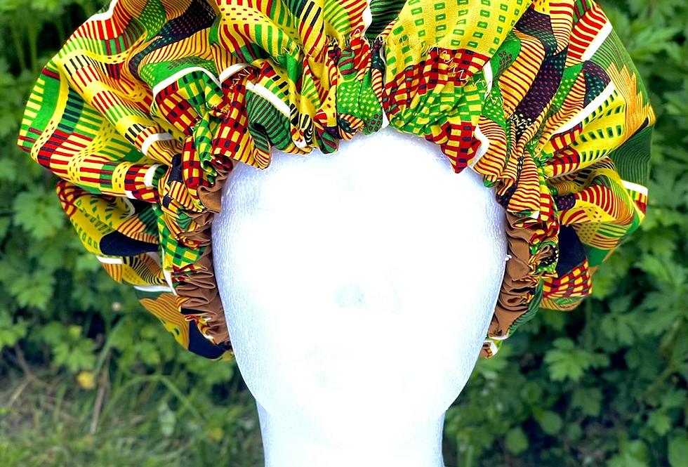 African-Print Bonnet