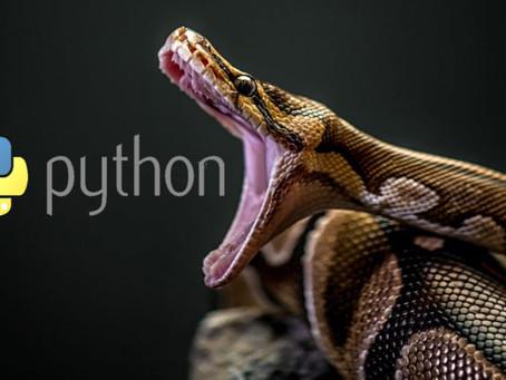 Python: não, aqui não é uma cobra, mas é tão sagaz quanto