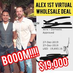 Alex: First Time Virtual Wholesaler