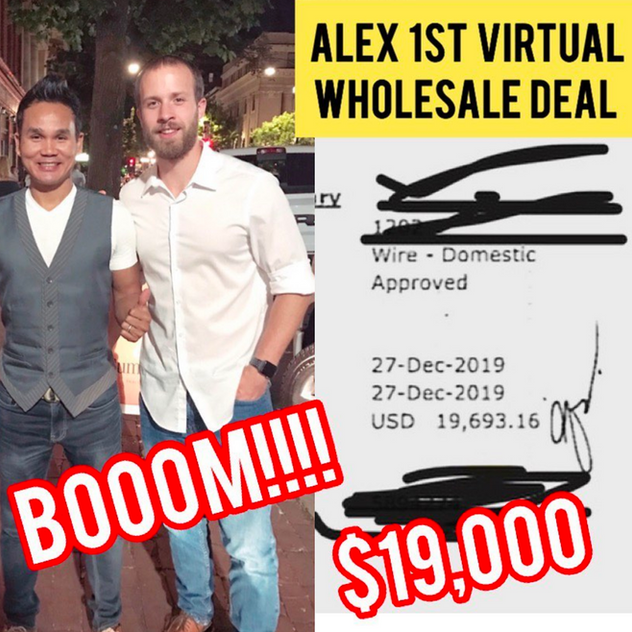 Alex: First Time Virtual Wholesaler