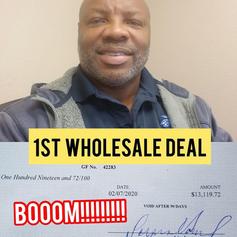 Allen: First Time Wholesaler