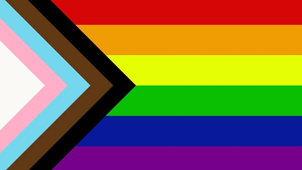 Progress Flag - 2018 LGBTQ Pride flag includes Trans and People of Colour - designed by Daniel Quasar
