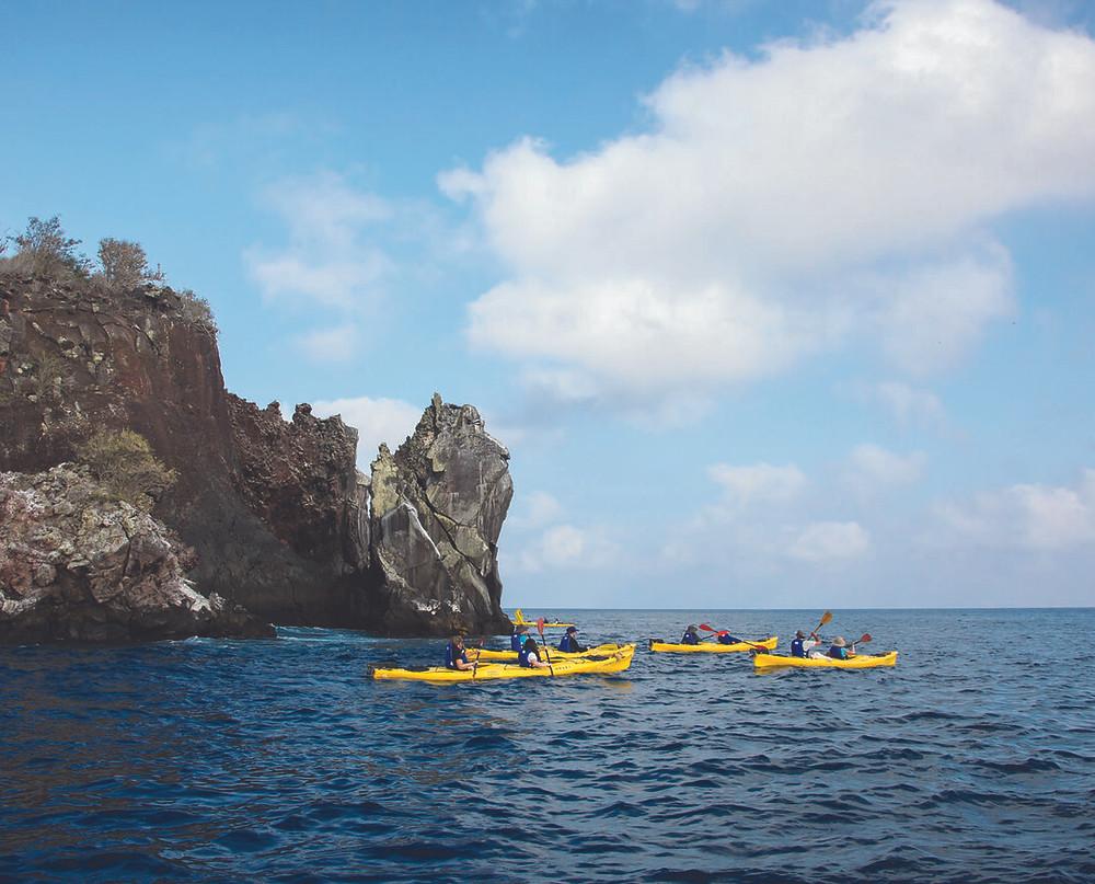 Kayaking in Bahía Gardner, Española Island