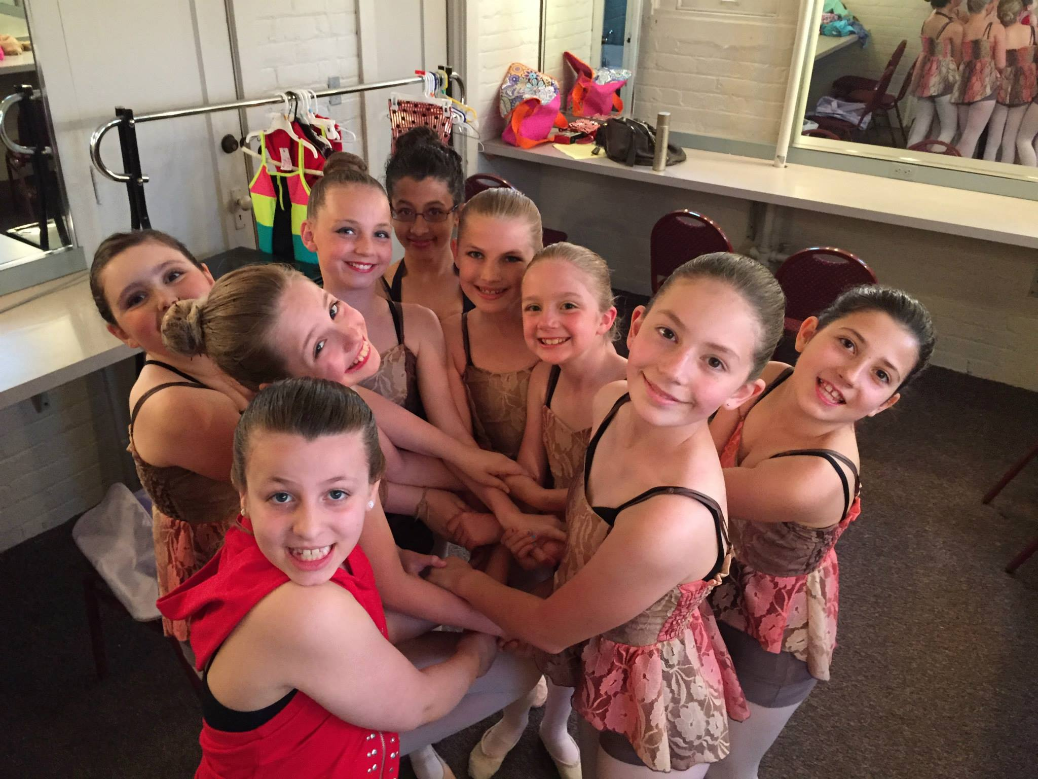 Dancers backstage at Hoyt Sherman