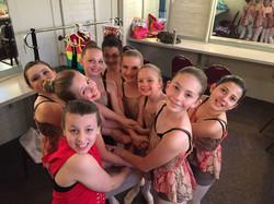 Dancers backstage at Hoyt Sherman