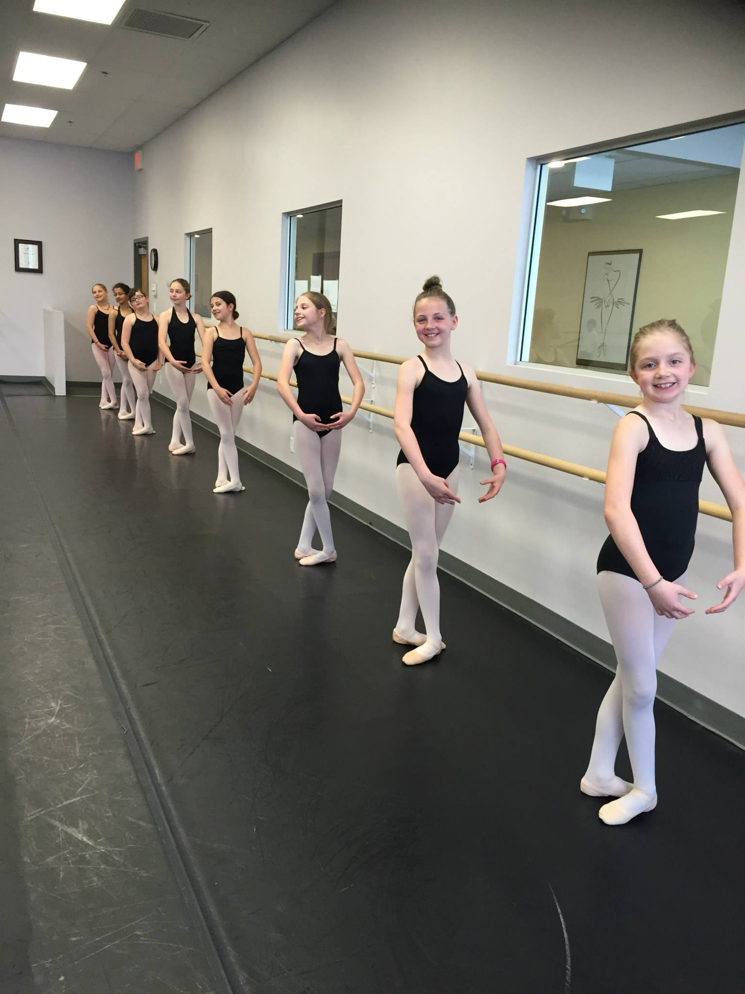 DanzArts' Level 3/4 ballet dancers