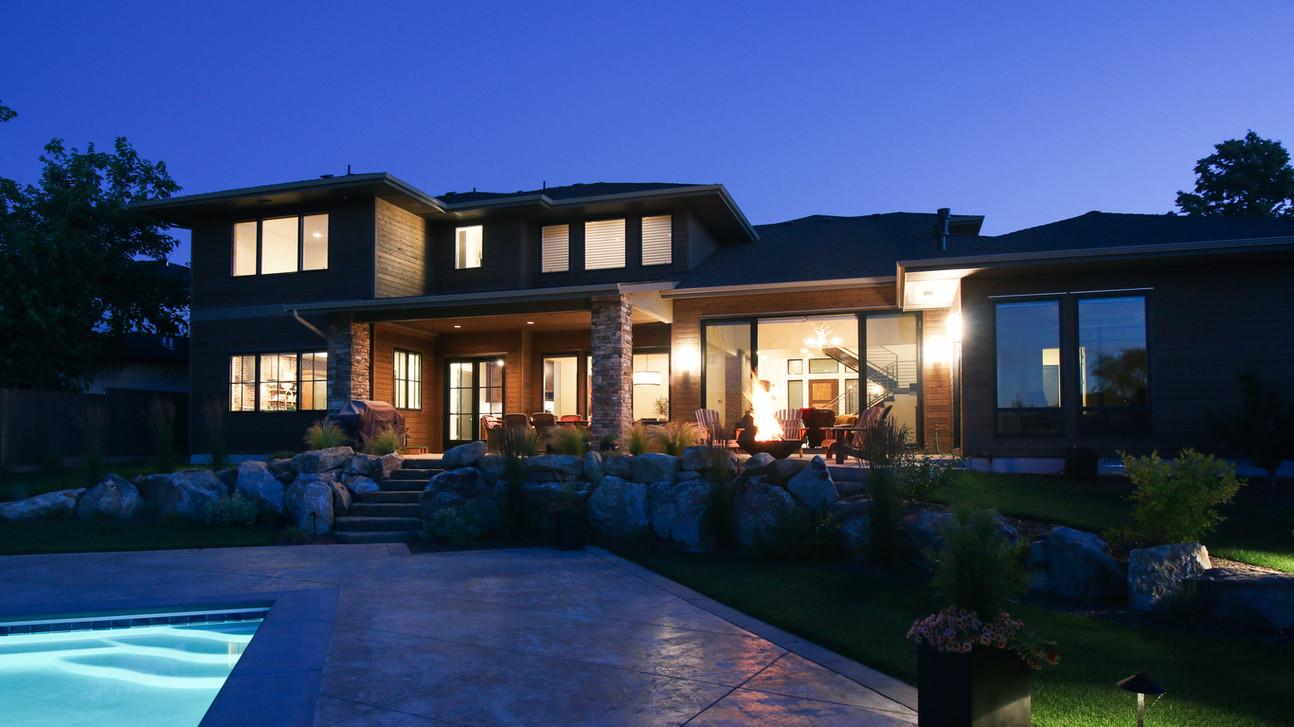 Boise Rim Modern - Back elevation