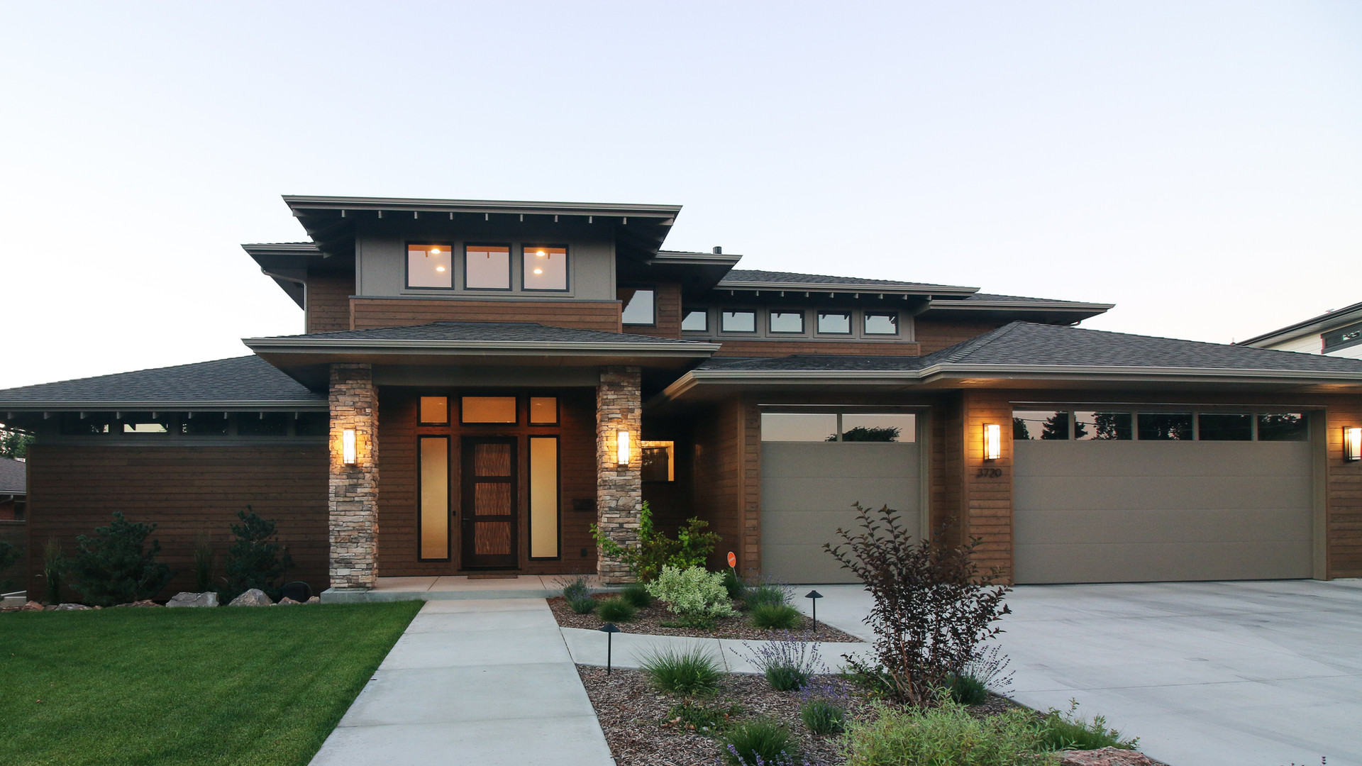 Boise Rim Modern - Front elevation