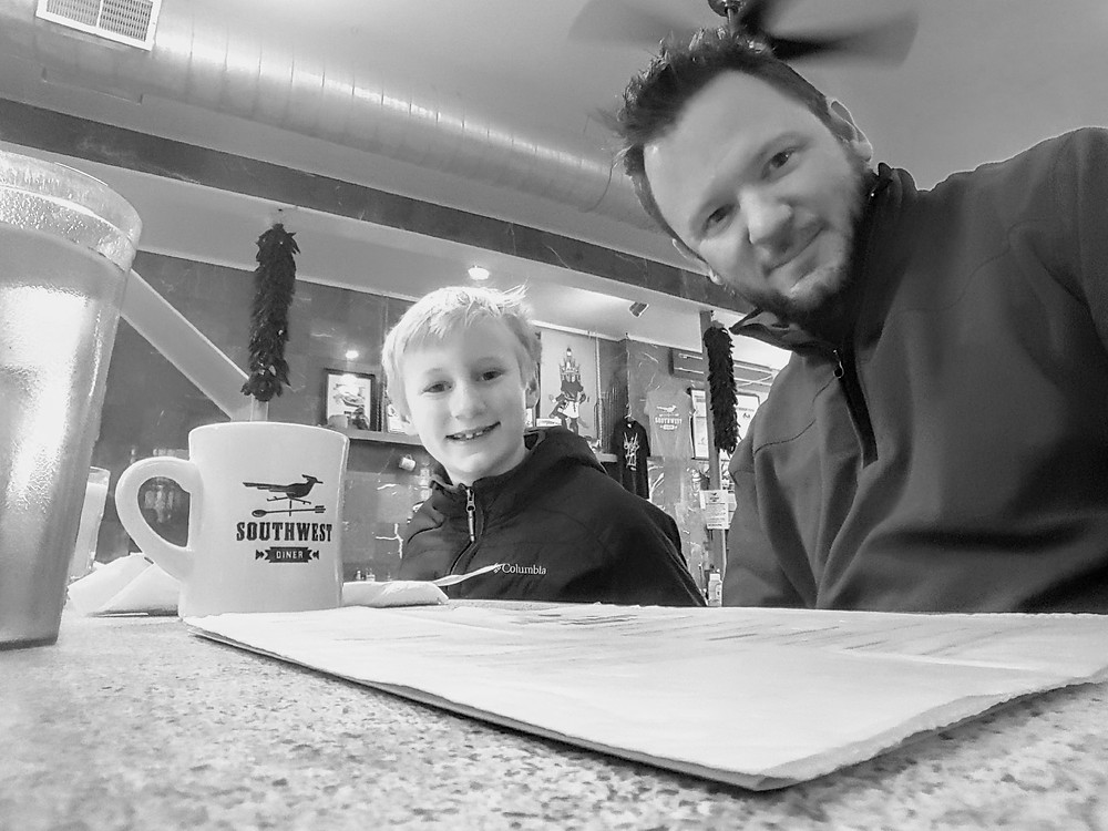 Breakfast with my boy!