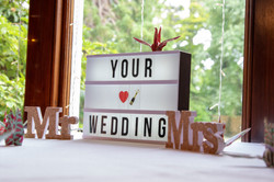 Your wedding sign