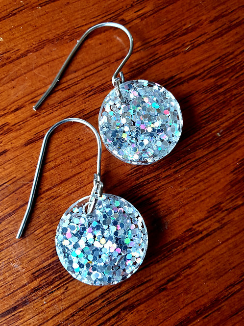 Round Resin Earrings Small on Hook
