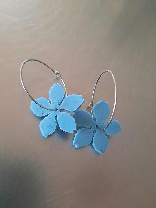 Blossom Hoop Earrrings
