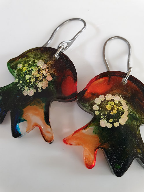 Jellyfish Resin Earrings