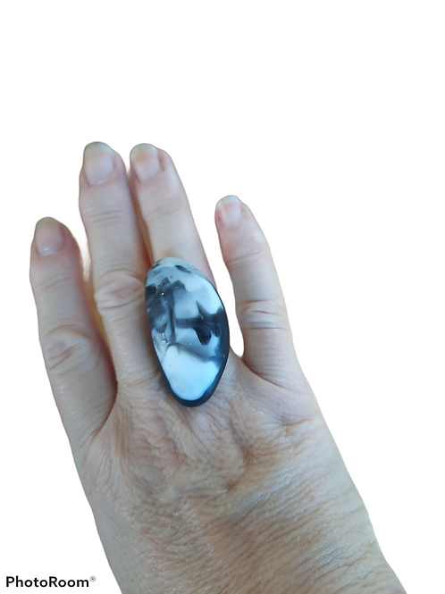 Oblong Stone Ring