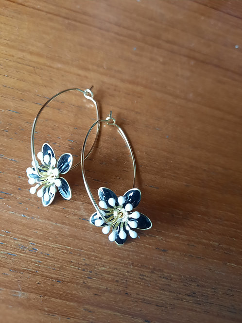 Floral Hoops - Gold