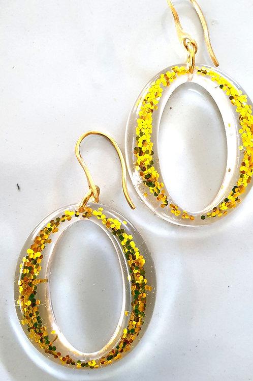 Ooooo Earrings - Glitter