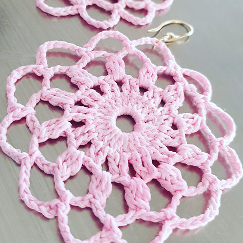 Crochet Statement Earrings