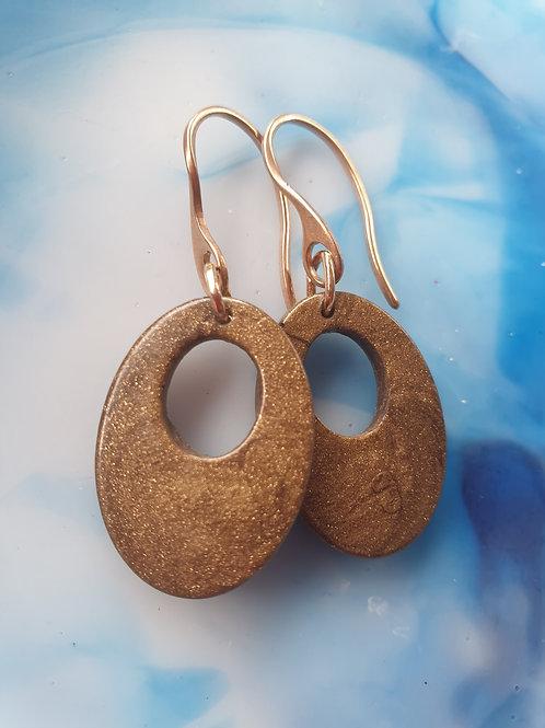 Mini Oval Earrings