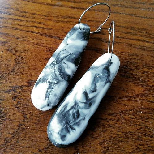 Slab Resin Earrings