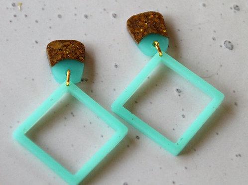 Square & Wedge Earrings