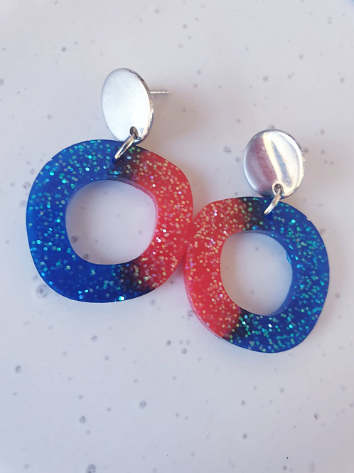 Single Wonky Circle Earrings - Small