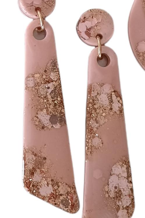 Long Wedge Resin Earrings