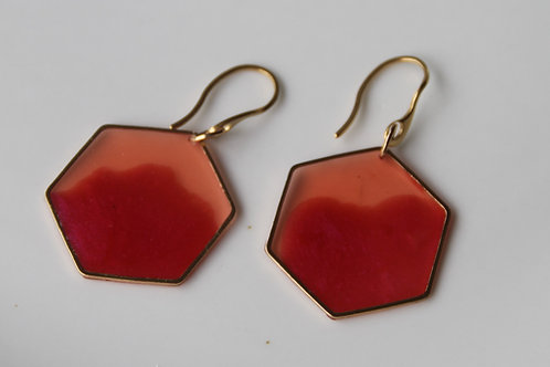 Simple Hexagon Earrings