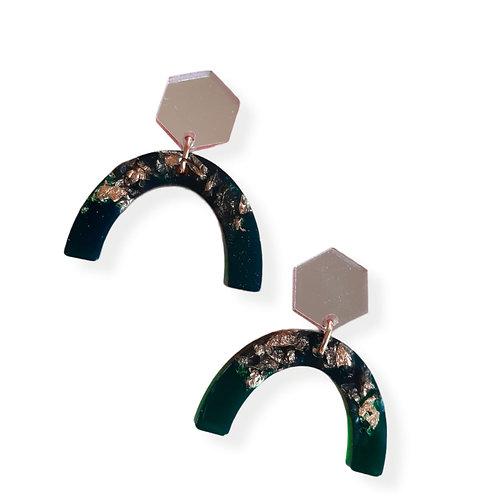 Arch Hexagon Earrings