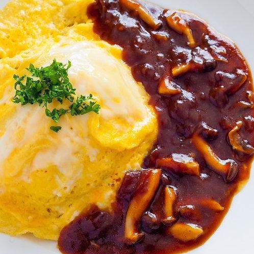 4月18日(木)オムハヤシ弁当 (L) / 18/4(Thứ Năm) Trứng cuộn cơm với sốt hayashi (L)