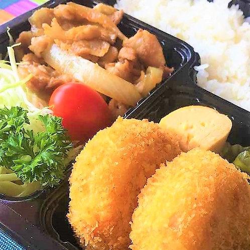 12月10日(火)ポテトコロッケ&豚しょうが焼き弁当