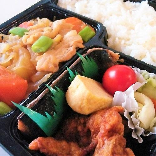 11月09日(金)サバ塩焼きと肉じゃが弁当 + 味噌汁