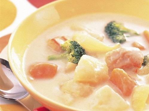 3月7日(木)ほうれん草とチキンのクリームシチュー(L) / Ngày 7/3 (Thứ 5) Rau cải bó xôi và gà hầm kem(L)