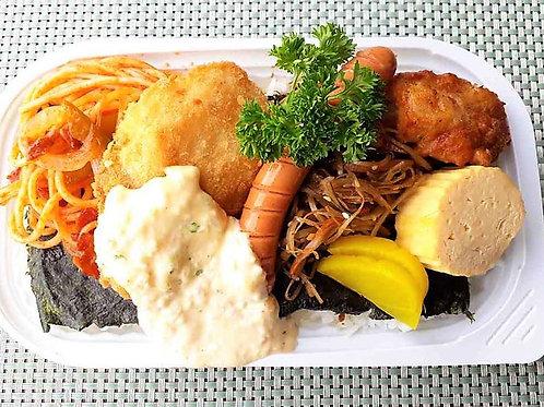 6月24日(月)白身魚タルタルのり弁当 + 味噌汁
