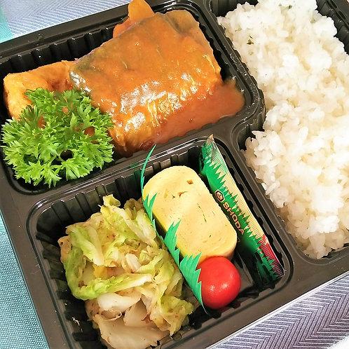 12月25日(火)鯖の和風カレー煮弁当 +味噌汁