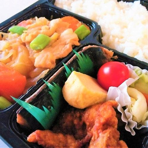 3月29日(金)サバ塩焼きと肉じゃが弁当 + 味噌汁