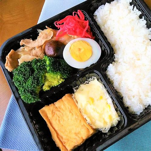6月13日(木)豚すき焼き弁当 + 味噌汁