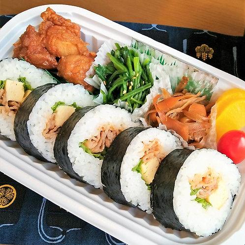 7月4日(木)焼肉寿司弁当 + 味噌汁